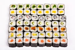 Square Set Of Different Rolls Stock Image