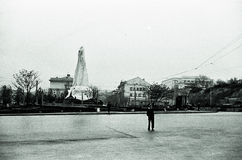 Square of Sevastopol, USSR, 1950th Stock Photo