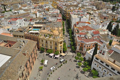 A Square in Seville Stock Photography