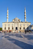 The square with the shadows of the Rustem Pasha Mosque minarets Royalty Free Stock Photography