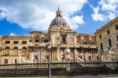 Square of Shame, in Palermo Royalty Free Stock Images
