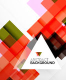 Square shape abstract layouts, business template Royalty Free Stock Images