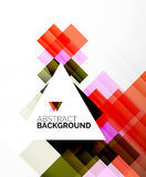 Square shape abstract layouts, business template Stock Image