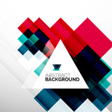 Square shape abstract layouts, business template Stock Photography