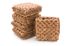 Square shape chocolate wafer Royalty Free Stock Photography