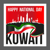 Square Shape Kuwait National And Liberation Day Poster Royalty Free Stock Photography