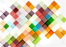 Square shape mosaic pattern design. Universal Royalty Free Stock Images