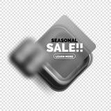 Square shape sale button label tag Stock Photos