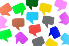Square shaped ,Blank speech bubbles Royalty Free Stock Photography