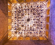 Square Shaped Ceiling Sala de los Reyes Alhambra Granada Spain Royalty Free Stock Image