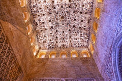 Square Shaped Ceiling Sala de los Reyes Alhambra Granada Spain Royalty Free Stock Photos