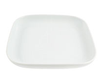 Square shaped empty ceramic plate Stock Image
