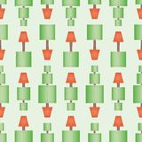Topiary tree seamless wallpaper pattern with square shapes and dotted line. royalty free illustration