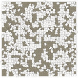 Square shaped white unready puzzle Royalty Free Stock Photos