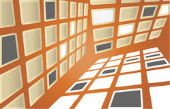 Square shapes on wall Royalty Free Stock Photos