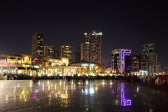 Square in Sharjah City at night Royalty Free Stock Photos
