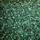 Square sharpen photo texture green tiles wall small bricks vintage Royalty Free Stock Image