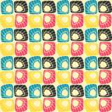 Square shell pattern Stock Photos