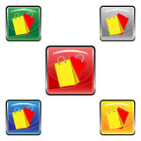 Square shopping bags buttons Royalty Free Stock Photo