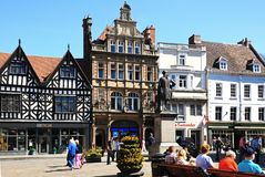 The Square, Shrewsbury. Royalty Free Stock Photos