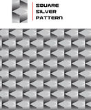 Square Silver Pattern. A Seamless Square Silver Pattern Stock Image