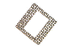 Square silver photo frame Stock Images