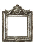 Square silver picture frame w/ clipping path Stock Photo