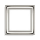 Square silver picture frame on white background. 3d rendering Royalty Free Stock Images