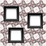 Square simple blank white photo frame on wall Royalty Free Stock Images