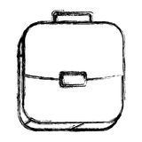 Square sketch button with briefcase Stock Images
