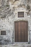 Matera street city Italy. Square sky windows cloud tower colors country road street courts green door panorama sunset courts sleep square Italy Stock Images
