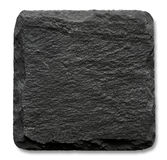 Square slate stand. Isolated on a white background Stock Photo