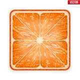 Square slice of grapefruit.  on white Royalty Free Stock Photos