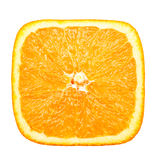Square slice of orange. Close-up view square slice of orange Royalty Free Stock Images