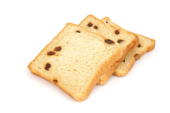 Square sliced bread with raisin Stock Photography
