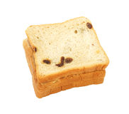 Square sliced bread with raisin Royalty Free Stock Photo