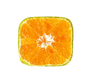 Square of sliced mandarin orange fruit Stock Photo