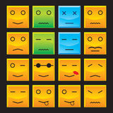 Square Smiles Set Royalty Free Stock Images