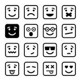 Square Smiley faces set. Vector Royalty Free Stock Photography
