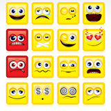 Square Smileys Stock Photo
