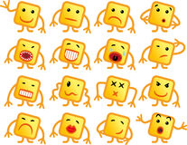 Square smilies Royalty Free Stock Images