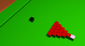Impossible Snooker Balls. An impossible activity to master Royalty Free Stock Photos