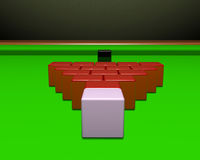 Square Snooker Balls Stock Image