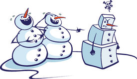 Square Snowman Royalty Free Stock Image