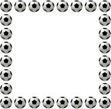 Square soccer ball or football frame Royalty Free Stock Photos