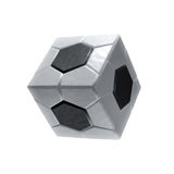Square soccer ball icon Royalty Free Stock Photos