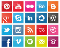 Free Square Social Media Icons Royalty Free Stock Photos - 39337018