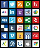 Square Social Media Icons Metro Style [1] Royalty Free Stock Photography