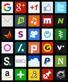 Square Social Media Icons Metro Style [2] Stock Photo