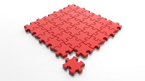 Square solved jigsaw puzzle Royalty Free Stock Photos